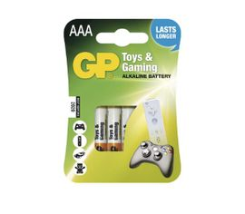 Batéria GP alkalická do hračiek AAA, 4ks/ Blister