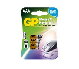 Batéria GP alkalická do myší a klávesníc AAA, 4ks/ Bl.