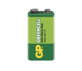 Batéria GP GREENCELL 9V blok, 1ks/ Fólia