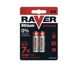 Batéria RAVER líthiová AA, 2ks/ Blister