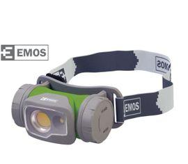 LED Čelovka EMOS na 1x AA, 2 x LED - Zelená