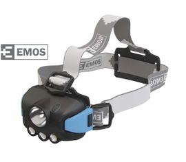 LED Čelovka EMOS na 3x AAA, 1 LED 1W + 3 x LED
