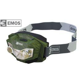 LED Čelovka EMOS na 3x AAA, 2x číra LED, 1x červená LED