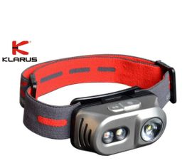 Čelovka Klarus TITANIUM H1A Čierna + Klarus micro USB 14500 nabíjateľný akumulátor, Praktik Set