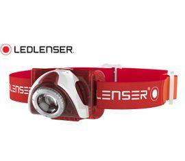 Čelovka Led Lenser SEO5 s Focus optikou- červená