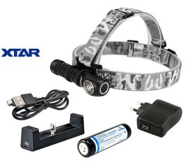 Čelovka Xtar H3W WARBOY, Teplý odtieň svetla (WARM) - Praktik Set
