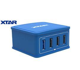 Inteligentná 4x USB nabíjačka XTAR 4U