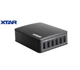 Inteligentná 6x USB nabíjačka XTAR U1