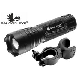 LED baterka, bicyklové predné svetlo Falcon Eye ALPHA 160 + univerzálna otočná montáž na bicykel