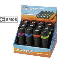 LED Baterka EMOS plastová 1W LED na 3xAAA FOCUS 12 ks/ box