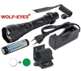 LED Baterka Wolf-Eyes X-Beam Biela XP-L V5 v.2 2017 + Zelená LED Full Set