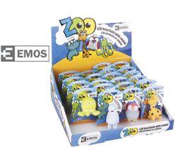 LED kľúčenka EMOS plastová, prívesok zvieratko, 21ks