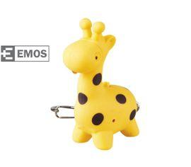 LED kľúčenka EMOS plastová, prívesok zvieratko so zvukom ZOO, 1ks - Žirafa