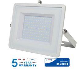 LED reflektor 100W 8000lm SAMSUNG CHIP Slim biely - 5 ROČNÁ ZÁRUKA!