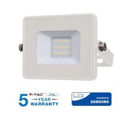 LED reflektor 10W 800lm SAMSUNG CHIP Slim biely - 5 ROČNÁ ZÁRUKA!