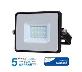 LED reflektor 10W 800lm SAMSUNG CHIP Slim čierny - 5 ROČNÁ ZÁRUKA!