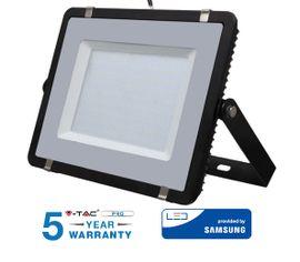 LED reflektor 200W 16000lm SAMSUNG CHIP Slim čierny - 5 ROČNÁ ZÁRUKA!