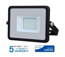 LED reflektor 20W 1600lm SAMSUNG CHIP Slim čierny - 5 ROČNÁ ZÁRUKA!