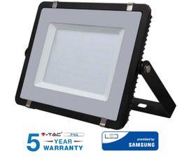 LED reflektor 300W 24000lm SAMSUNG CHIP Slim čierny - 5 ROČNÁ ZÁRUKA!