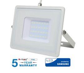LED reflektor 30W 2400lm SAMSUNG CHIP Slim biely - 5 ROČNÁ ZÁRUKA!