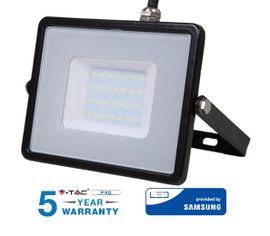 LED reflektor 30W 2400lm SAMSUNG CHIP Slim čierny - 5 ROČNÁ ZÁRUKA!
