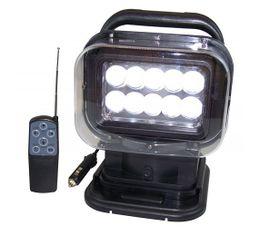 LED Reflektor 50W, 12/24V, Cree LED10x5 W, elektricky nastaviteľný, diaľkovo ovládaný, s magnetickým držiakom