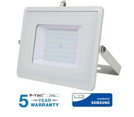LED reflektor 50W 4000lm SAMSUNG CHIP Slim biely - 5 ROČNÁ ZÁRUKA!