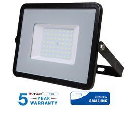 LED reflektor 50W 4000lm SAMSUNG CHIP Slim čierny - 5 ROČNÁ ZÁRUKA!