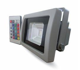 LED reflektor RGB 10W s IR diaľkovým ovládaním 800lm šedý
