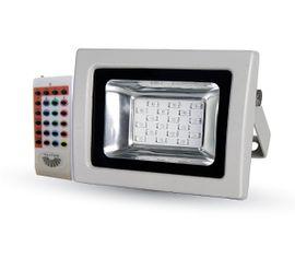 LED reflektor RGB 10W s RF diaľkovým ovládaním 800lm šedý