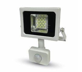 LED reflektor 5747 SMD 10W 800lm SLIM biely so senzorom