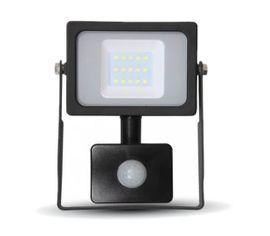 LED reflektor SMD 10W 800lm SLIM čierny so senzorom