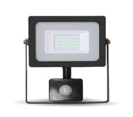 LED reflektor SMD 20W 1600lm SLIM čierny so senzorom
