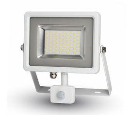 LED reflektor SMD 30W 2400lm SLIM biely so senzorom