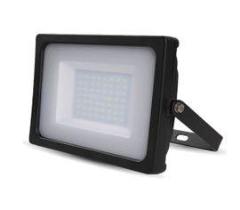 LED reflektor SMD 50W SLIM čierny