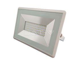 LED reflektor V-TAC 50W, 4250lm, E-SERIES, Slim, biely