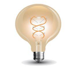 LED žiarovka E27 5W G125 Amber cover