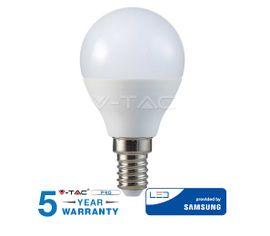 LED žiarovka V-TAC E14 4,5W, 470lm, P45, SAMSUNG CHIP - 5 ROČNÁ ZÁRUKA!
