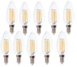 LED žiarovka V-TAC E14 4W 400lm sviečka - BALENIE 10 KUSOV