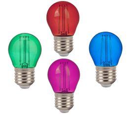 LED žiarovka V-TAC E27 2W 60lm G45 - ZELENÁ, ČERVENÁ, MODRÁ, RUŽOVÁ
