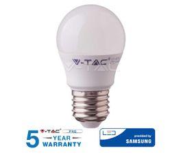 LED žiarovka V-TAC E27 4,5W, 470lm, G45, SAMSUNG CHIP - 5 ROČNÁ ZÁRUKA!