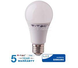 LED žiarovka V-TAC E27 6,5W, 806lm, A60, SAMSUNG CHIP - 5 ROČNÁ ZÁRUKA!
