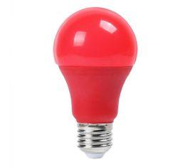 LED žiarovka V-TAC E27 9W 120lm A60 - ČERVENÁ