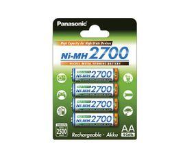 Panasonic 2700 mAh AA NiMH 4ks 500 cyklov nabíjania