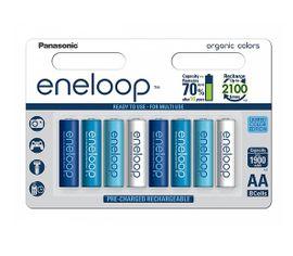 Panasonic Eneloop Ocean colors AA NiMH 8ks