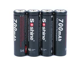 Soshine AA 3,2V 700mAh LiFePO4 4ks