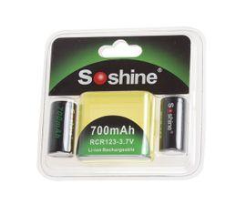 Soshine RCR 123 700 mAh (3,7V) 2 kusy
