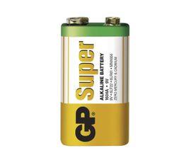 Batéria GP SUPER alkalická 9V blok, 1ks/ Folia