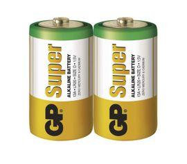 Batéria GP alkalická D, 2ks/ Fólia