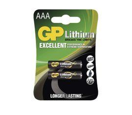 Batéria GP Lithium AAA, 2ks/ Blister